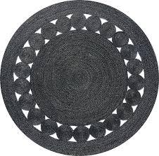 black jute rug round dot lost design society target australia black jute rug