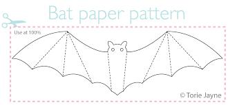 Bat Pattern Extraordinary Paper Bat Pattern Torie Jayne