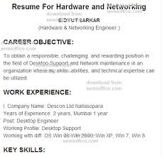 Resume Format For Network Engineer Fresher Download Resume Resume Example  Language Skills