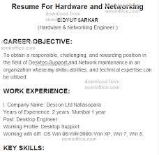 Resume Format For Network Engineer Fresher Download Resume Resume Example  Language Skills