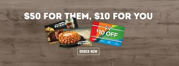 outback steakhouse 10 promo card when you 50 in gift cards wral
