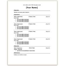Download Resume Template Word 2010 Free Sample Resume Template