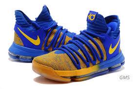 nike basketball shoes. nike basketball shoes kevin durant 10 warriors away royal blue yellow_sku91238 458