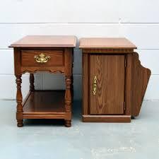 oak end tables vintage oak end tables by tell city oak side tables uk