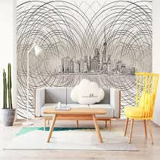 wallpaper for office wall. Abstrac Wallpaper For Walls 3 D Nordic Simple Modern Aesthetic Sketch  Pencil Photo Office Study Wall