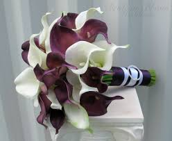 Purple Calla Lily Wedding Bouquet Pictures