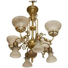 photos of victorian gas electric chandelier