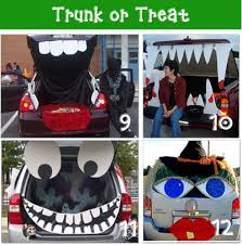 Halloween Trunk or Treat decorating ideas