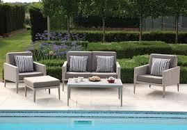 hampstead sofa with 2 lounge armchairs footstool and rectangular coffee table garden sofa lounging sets garden furniture bridgman