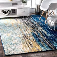 blue area rug incredible oliver james mika abstract vintage 5 x 7 for 18