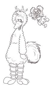 Small Picture Abby Cadabby and Big Bird coloring page Free Printable Coloring