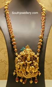 Temple Jewellery Locket Designs Ruby Strings Necklace With Krishna Pendant Jewelry Design