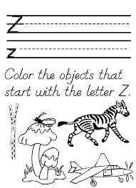 Letter Z Worksheets | Kiddo Shelter