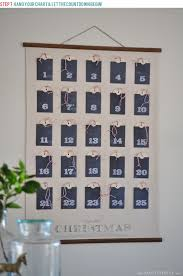 Hang The Charts On The Wall Christmas Advent Calendar Wall Chart Full Tutorial With