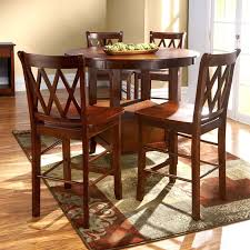 tall round table and chairs dinette area design with round leaf bar high kitchen round high