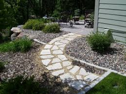 river rock patio ideas. flagstone path with rock and mulch river patio ideas