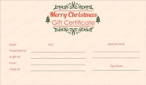 Printable Christmas Certificates printable holiday gift certificates Mayotteoccasionsco 68