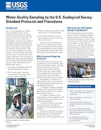 Usgs Fact Sheet 2010 3121 Water Quality Sampling By The U S