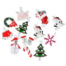 Souarts Solid <b>Mixed Christmas</b> Snowman Tree Charm Pendants for ...