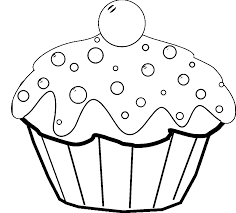 Small Picture Cake Coloring Pages coloringsuitecom