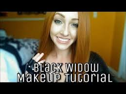 black widow capn america the winter solr cosplay makeup tutorial