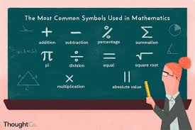 Math Symbols Meanings Math Symbols And What They Mean