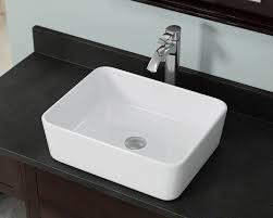 vwhite white porcelain vessel sink