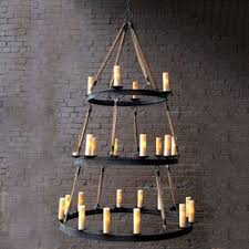 awesome rope chandelier for your home lighting idea three tier rope chandelier for interesting kitchen
