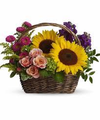 Basket Flower Decoration Similiar Summer Basket Arrangement Keywords