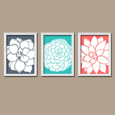 matching wall art teal bedroom pictures canvas or prints orange bathroom artwork flower dahlias home decor floral succulent set of 3 on matching wall art prints with matching wall art teal bedroom pictures canvas or prints orange