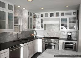 kitchen backsplash white cabinets black countertop photo 4