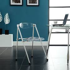 com modway telescoping chair in clear kitchen dining room furniture