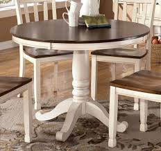 whitesburg round dining table in brown white round dining table