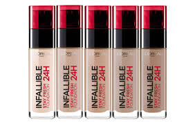 l oreal make up designer infallible 24h liquid foundation 7 colors to choose hermo beauty msia