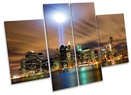image is loading new york city twin towers skyline canvas wall  on canvas wall art new york city with new york city twin towers skyline canvas wall art multi panel print