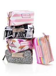 new makeup bag these are really nice bags that are pact and affordable really you could use any small makeup bag you want ulta has nice ones or check