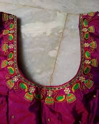 Machine Embroidery Jewelry Designs Pin By Ashwadh Creations On Laxmireddy 9912954124 Blouse