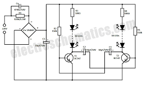 220v led blinker circuit 220v led blinker circuit schematic