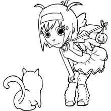 Small Picture Jack o lantern fancy dress coloring pages Hellokidscom