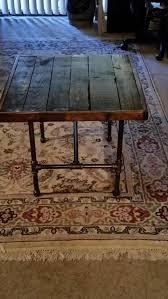 diy pallet iron pipe. DIY Vintage Pallet End Table With Black Pipe Legs | Furniture Diy Iron