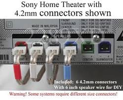 6c 4 2mm speaker cable wire plug connectors made for select sony image is loading 6c 4 2mm speaker cable wire plug connectors