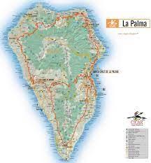 Leuchtturm, punta cumplida, la palma, kanarische inseln. La Palma Karte Grosse Karte La Palma
