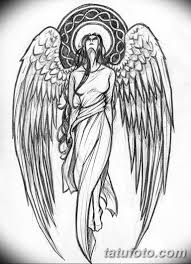 тату ангел эскизы мужские 09032019 006 Tattoo Sketches