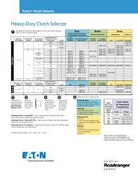 Eaton Fuller Clutch Chart Heavy Duty Clutch Selector