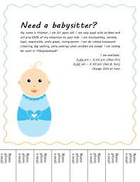 babysitting jobs cute baby tear off babysitting flyer babysitting flyers