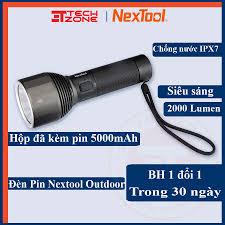 Đèn pin chống nước xiaomi Nextool - đèn pin dã ngoại 2000 lumen với pin  5000mah chống nước IPX7