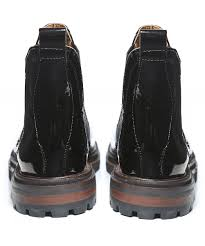 h by hudson wisty patent leather chelsea boots
