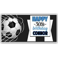 happy birthday customized banners details about soccer happy birthday custom banner