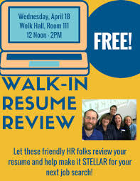 Resume Review Review Workshop 64