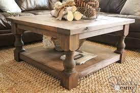 corona coffee table square ana white